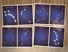 С помощью этого комплекта мы можем рассказать малышам о созвездиях