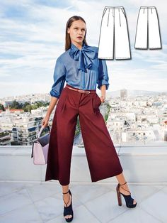 Flared Culottes 03/2016 #114B http://www.burdastyle.com/pattern_store/patterns/flared-culottes-032016?utm_source=burdastyle.com&utm_medium=referral&utm_campaign=bs-tta-bl-160222-BlueCrushCollection114B