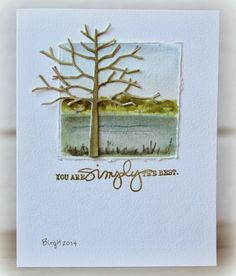 Spotted and loved: One totally gorgeous card by Birgit Edblom! The words are from Technique Tuesday's Simply You by Ali Edwards stamp set. Love your card, Birgit!