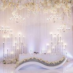 Wedding table bride and groom decor 45 ideas for 2019 Wedding Backdrop Design, Wedding Stage Design, Wedding Stage Decorations, Wedding Themes, Wedding Designs, Wedding Events, Weddings, Wedding Ceremony Ideas, Wedding Table