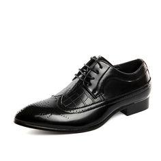 British Style Men S Patent Leather Crocodile Shoes Classic Business Casual Shoes  Fashion Handmade Dress Flats Shoes d19c8288c011