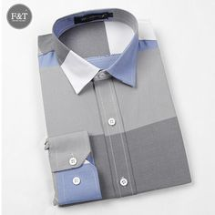Fashion Brand Long Sleeve Cotton Slim Fit French Cuff Casual Male Social Dress Shirts