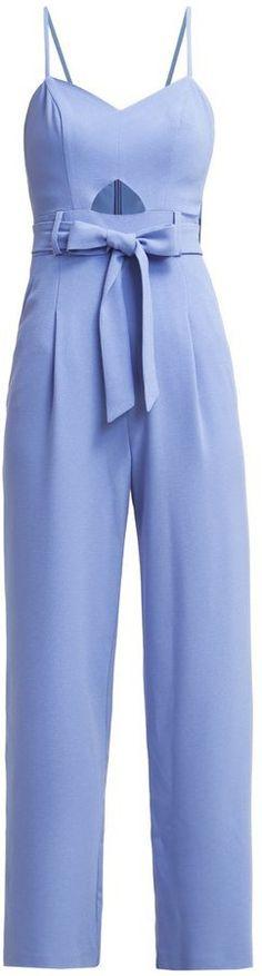 Pin for Later: Dieses Kleidungsstück rettet euch an jedem verzweifelten Montag Miss Selfridge Jumpsuit himmelblau (65 €)