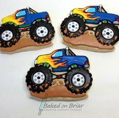 Monster Truck Cookies Cars 43 Ideas For 2019 Monster Truck Cookies, Car Cookies, Monster Truck Birthday, Cupcake Cookies, Monster Trucks, Cupcakes, Monster Jam, Dump Truck Cakes, Pink Truck