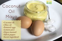 The BEST homemade MAYO, made with COCONUT OIL real, organic olive oil, along with fresh pastured eggs and other wholesome ingredients. Healthy Soup Recipes, Low Carb Recipes, Whole Food Recipes, Cooking Recipes, Paleo Food, Vegetarian Food, Healthy Food, Yummy Food, Mayonnaise Recipe