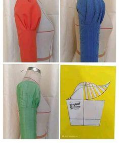 Sewing Purses And Bags Colour Ideas Kurti Sleeves Design, Sleeves Designs For Dresses, Dresses With Sleeves, Dress Sewing Patterns, Blouse Patterns, Blouse Designs, Pattern Sewing, Bag Patterns, Sewing Shirts