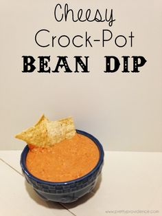 Cheesy Crock-Pot Bean Dip