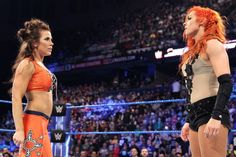 Maybe this Mickie-Becky feud isnt over Wrestlemania 35, Ready To Rumble, Trish Stratus, Mickie James, Wrestling Wwe, Royal Rumble, Bad Blood, Becky Lynch, John Cena