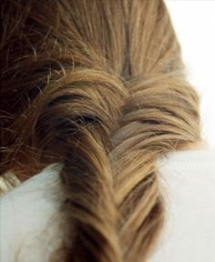ginger. brown. hair. style. fish plait.