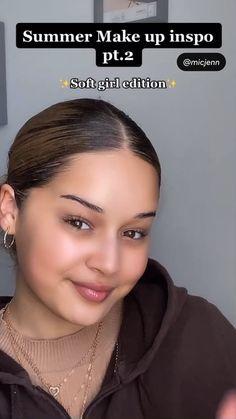 Dewy Makeup Look, Contour Makeup, Eyebrow Makeup, Skin Makeup, Eyelashes Makeup, Contouring, Makeup Brushes, Black Girl Makeup Natural, Natural Summer Makeup