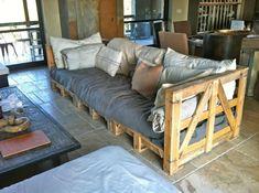 Europaletten im Garten verwenden – 23 thematische Wohnideen für Sie - Europaletten im Garten und zu Hause verwenden massiv holz sofa auflagen