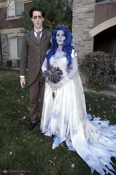 Brenna: I submitted my Corpse Bride Costume in another category, but I also wanted to enter my husband and I together! :-) These costumes are the two main characters in Tim...