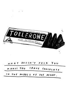 Mmm... Toblerone.