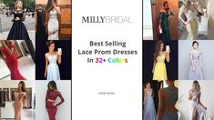 Lace Prom Dresses, Best Selling Lace Prom Gowns In 32+ Colors, Shop Lace...
