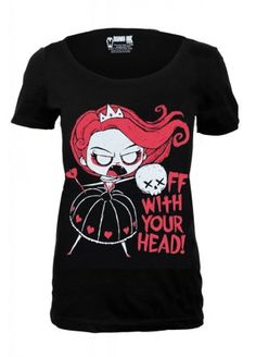 Akumu Ink Off With Your Head Scoop T-Shirt