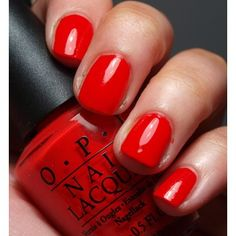Red Lights Ahead -Where? - OPI Nail Polish