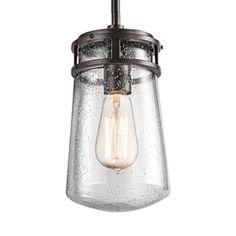 Kichler Lighting Lyndon 11.75-in Architectural Bronze Outdoor Pendant Light