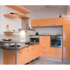 Кухня №8 (МДФ крашеный) Apartment Kitchen Organization, Orange Kitchen, Kitchen Items, Home Decor Bedroom, Architecture, Decoration, Home Furnishings, Kitchen Cabinets, Dining