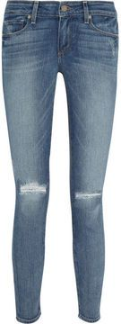 Paige Verdugo distressed mid-rise skinny jeans