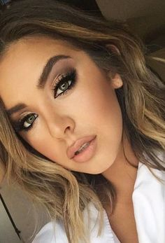 5 Simple Evening Makeup Tips To Help You Look Your Best - Prom Makeup Looks Natural Prom Makeup, Wedding Makeup For Brown Eyes, Best Wedding Makeup, Bridal Makeup, Winter Wedding Makeup, Pretty Makeup, Simple Makeup, Makeup Tips, Hair Makeup