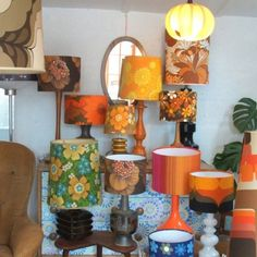 Vintage lamps from www.pineappleicebucket.co.uk