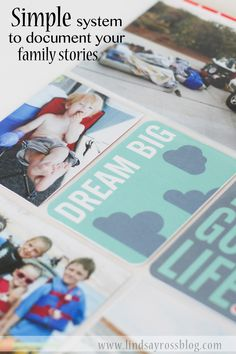 It can be overwhelming to get photos printed and displayed.  This is a SUPER SIMPLE system that helps pull family photo albums together quickly and easily.  Project Life by Becky  Higgins