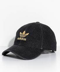 Top off your athleisure inspired outfits with adidas  Trefoil Black Denim Strapback  Hat. Featured with the iconic Trefoil logo featured on the front and ... a7d0cccd7012