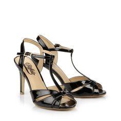 Womens 15s90-2 Patent Pu Glitter Wedge Heels Sandals Buffalo vW3Uo0tu