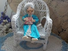 Sweet Stuffed Little Old Lady Mrs Social by Daysgonebytreasures