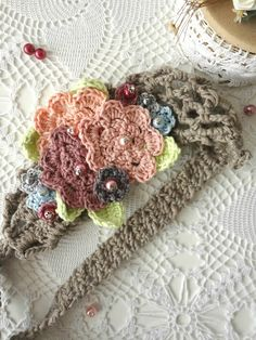 Little Treasures: Crochet Flower Headband - new pattern available