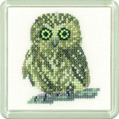 Owl Coaster cross stitch Kit - Heritage Crafts - £10.50