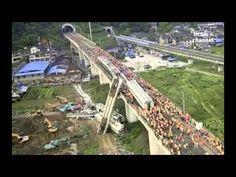【動画】 中国、高速鉄道の橋脚の基礎がボロボロ!