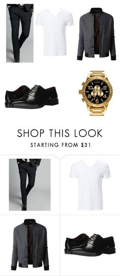 """a casual night out"" by evalia1291 on Polyvore featuring Express, Simplex Apparel, LE3NO, Massimo Matteo, Nixon, men's fashion and menswear"