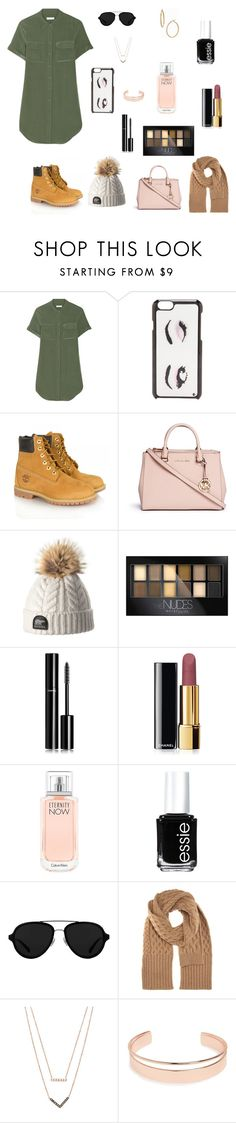 """""""Fall Come Back🍂"""" by thehotline ❤ liked on Polyvore featuring Equipment, Kate Spade, Timberland, Michael Kors, Maybelline, Chanel, Calvin Klein, Essie, 3.1 Phillip Lim and Maison Margiela"""