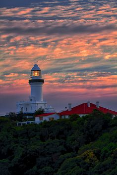 Cape Byron Lighthouse Pink Rise by Eamon Gallagher on 500px