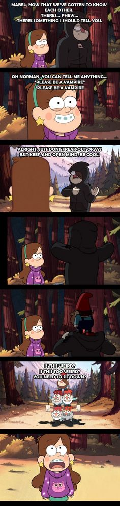 Gravity Falls in one Gifset Dipper And Mabel, Mabel Pines, Arte Disney, Disney Pixar, Disney Puns, Gavity Falls, Reverse Falls, Disney Shows, Force Of Evil