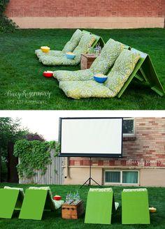 3. Backyard Theater Seats