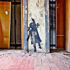 Beautifully haunting graffiti at Chernobyl.