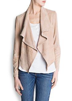Asymmetric suede jacket