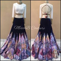 Mind blowing Abstract Tribe, lehenga by MischB Couture