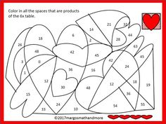 FREE. Page from February Daily Multiplication Packets Valentine/Winter Themes(for a month).Please leave feedback if you download!