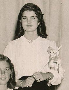 School photo of Jackie Kennedy