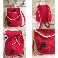 crochet backpack: Ladybird Ladybug backpack by Kate Eastwood on the LoveCrochet blog