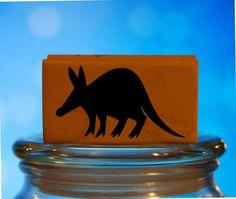 Aardvark Rubber Stamp Wood Mounted Polymer Art Stamp Scrapbooking
