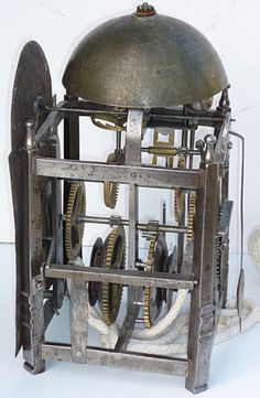 17th century Italian Gothic iron chamber clock
