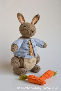 Crochet Pattern Timmy the Bunny Rabbit por LittleWoolyCreations