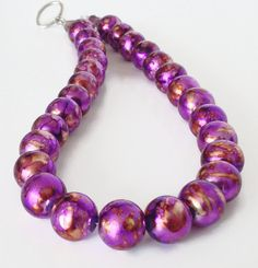 Fresh items in my Etsy Shop, Polished Plum! Glass Bead Necklace, $35.00
