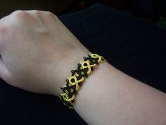 tatted celtic weave bracelet celtic bracelet tatted by MamaTats
