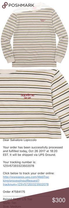Supreme Raised Stripe Long Sleeve Brand New. Comes with bag. Supreme Shirts Tees - Long Sleeve