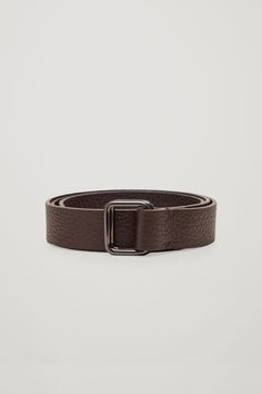 COS | Double-buckle leather belt
